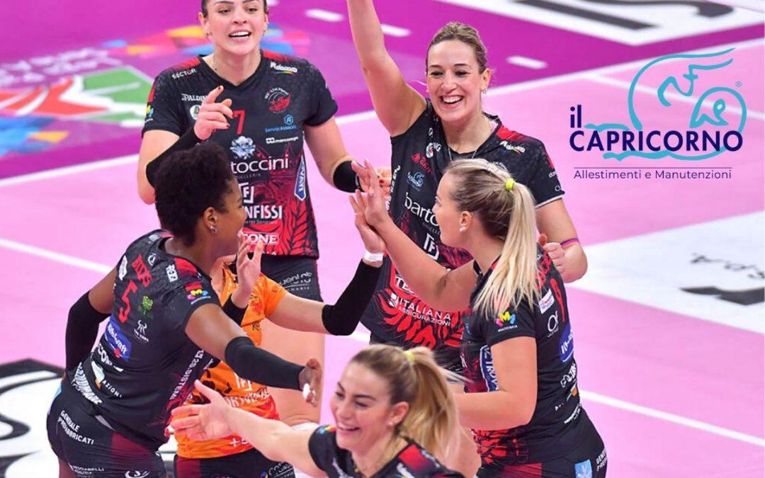 Il Capricorno è sponsor Ufficiale 2019-2020 di Bartoccini Fortinfissi Perugia Volley.