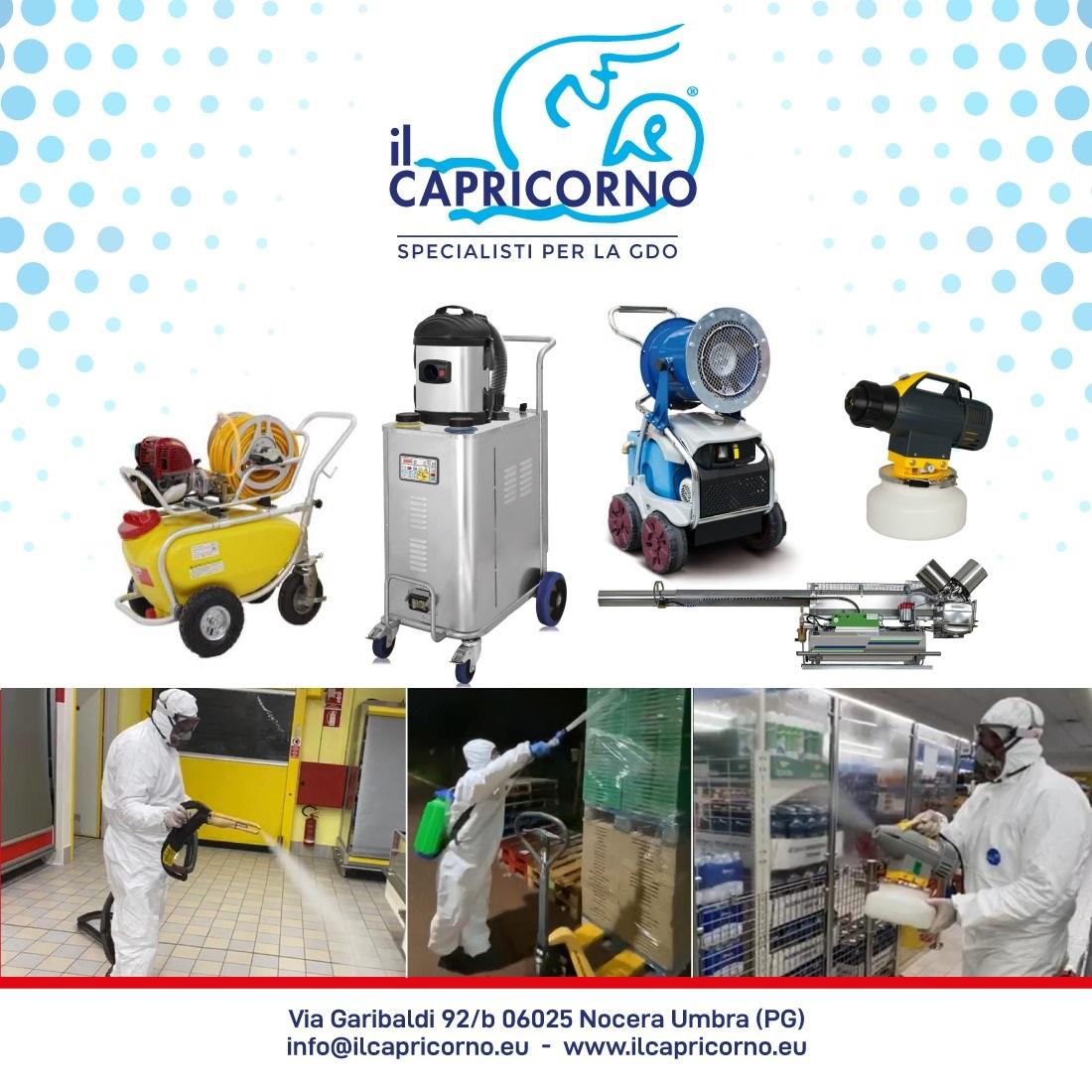 le nostre attrezzatutre per sanificare gli  ambienti di lavoro